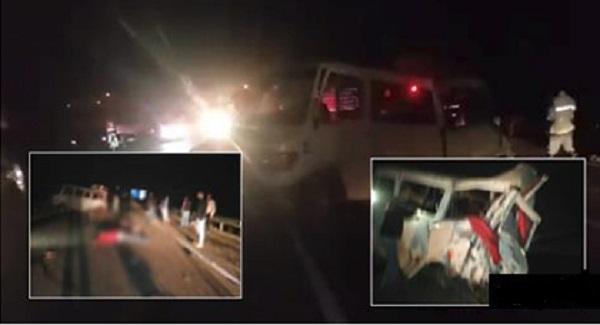 مصرع 6 أشخاص وإصابة 13 في اصطدام شاحنة بسيارة لنقل الركاب بين طنجة وأصيلة