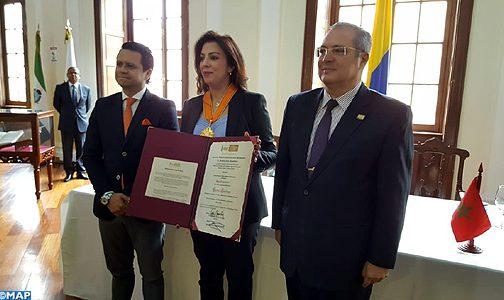 توشيح سفيرة المغرب ببوغوتا من قبل مجلس الشيوخ الكولومبي