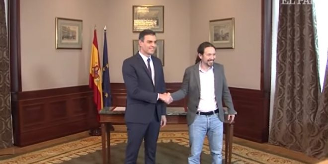 """اتفاق بين الحزب الاشتراكي و""""بوديموس"""" لتشكيل حكومة تقدمية بإسبانيا"""